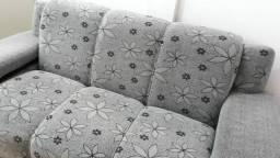 Vendo  conjunto sofá muito novo aceito cartão