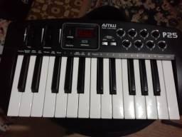 Controladora teclado midi amw 25