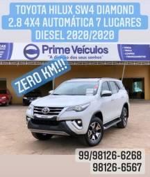 Toyota hilux SW4 2.8 Diamond 4x4 automática 7 lugares 2020/2020 zero km!
