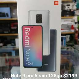 Note 9 pro 6 ram 128gd novos lacrados originais com garantia de 1 ano