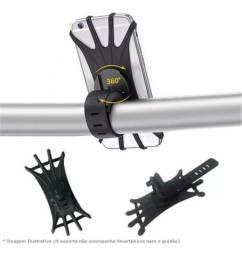 Suporte universal para celular, borracha de silicone resistente (Moto e Bike)