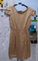 Vestido nude tubinho