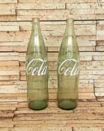 Garrafas vintage retrô Coca Cola