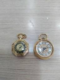 Relógio de bolso plaque de ouro
