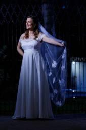 Véu Noiva bordado