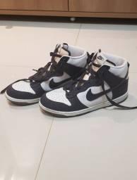 Tênis Nike Dunk high Azul marinho/Branco
