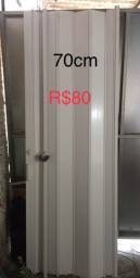 Porta sanfonada 80 cm por 80 reais