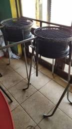 Churrasqueiras de roda de carro 13 e 14 desmontável