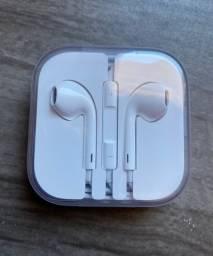 FONE APPLE - NOVO LACRADO (EarPods de 3,5mm, entrada redonda)