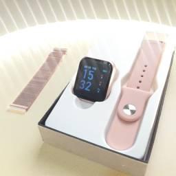 Relógio Smartwatch T80 C/ Duas Pulseiras + brinde