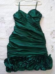Vestido drapeado verde