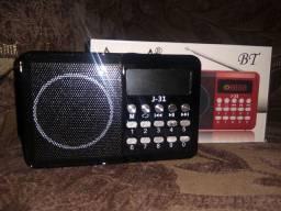 Mini Rádio FM/USB/Cartão de Memória J31 Altomex Novo
