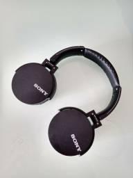 Fone bluetooth Sony sem fio FM cartao de memoria