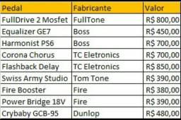 FullDrive / TC Eletronics / Boss / Crybaby / Tom Tone / Fire