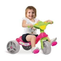 Triciclo Tico Tico Rosa - IMPERDÍVEL!