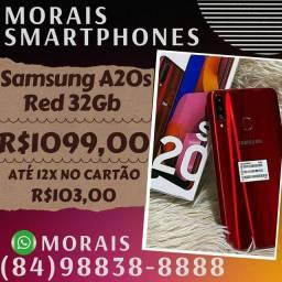 Smartphone Samsung Galaxy A20s Red 32Gb (NOTA FISCAL E GARANTIA 12 MESES)