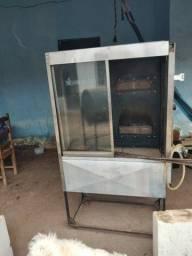 Maquina de frango e churrasqueira de bafo