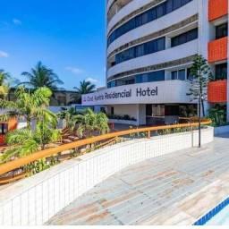 Alugo excelente Flat, frente para o mar, no Condomínio Ayambra Residencial Hotel