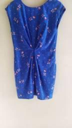 Vestido Azul Zara Tam P