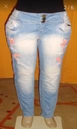 Calça jeans feminina marca jeans.com Tam.42 c/strech