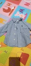 Camisa social ralph lauren 6meses