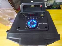 Som Portátil KTS 1078A + Microfone
