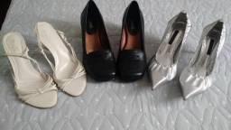 Sapatos e sandálias número 37 excelentes marcas: Ana Paula, Zutti, Via Uno