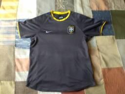 camisa seleção brasil cinza nike