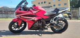 Moto honda CBR 500r vermelha 2018 apenas 8.000 km rodados