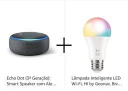 Alexa e lampada inteligente (com nota fiscal os dois)