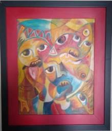 Tela artista angolano Moita