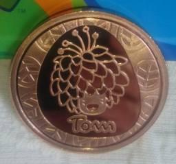 Medalha Comemorativa Original Paraolimpíada Rio 2016.