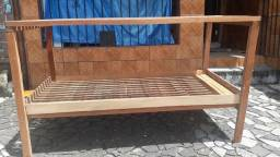 Mesa de madeira com prateleira embaixo  nova modelo rústico