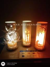 Abajures ( luminárias ) em pvc