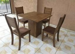 Mesa para sala de jantar 4 cadeiras