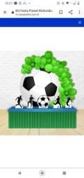 Kit Festa Painel Redondo Decoração Futebol<br><br>