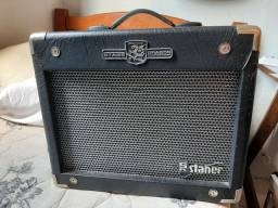 Kit guitar - cubo staner GT50 + guitarra memphis pink + suporte de guitarra + cabo