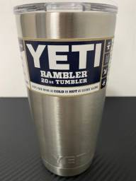 Copo Térmico Yeti Rambler 20oz/590ml Inox com Tampa