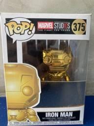 Funko Pop Iron Man dourado ainda a caixa