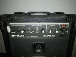 Caixa amplificador wattson pop line 100