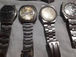 Relógios Seiko antigos.