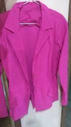 Casaco social feminino rosa