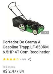 Cortador de grama a gasolina com recolhedor