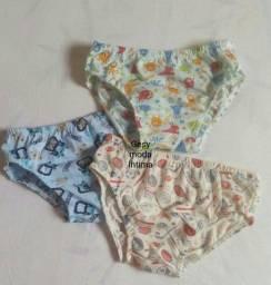 Kit c/3 Cueca infantil algodão