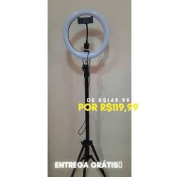 Ring light 10 polegadas com tripé de 2.10m + entrega grátis