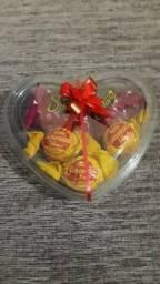 Coração com bombons R$10,00