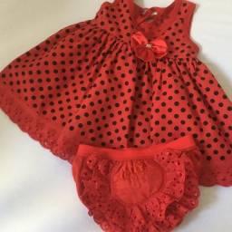 Vestido infantil 6 a 9 meses