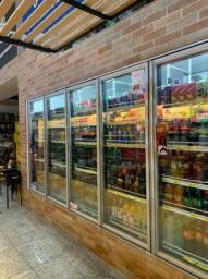 Câmara Fria (Walk in Cooler com portas de vidro expostiras)
