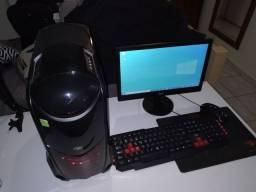 Título do anúncio: Setup PC, monitor e periféricos(teclado, mouse e mousepad)