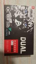 Placa de vídeo asus dual randeon rx 500 serie rx580 8g OC edition